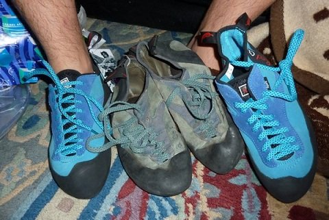 Funky Old Climbing Shoes